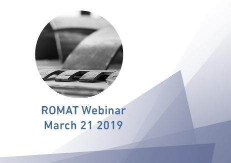 ROMAT Webinar March 21 2019